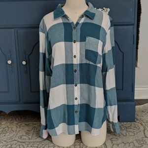 Maurices Very Soft Relax Fit Flannel Button Down